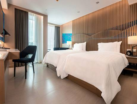 Deluxe urban twin bed mytt beach hotel pattaya